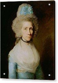 Portrait Of Elizabeth Caldwell Acrylic Print by Gilbert Stuart