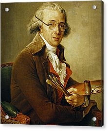 Portrait Of Francois-andre Vincent Acrylic Print by Adelaide Labille-Guiard