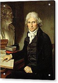 Portrait Of Francois Xavier Bichat 1771-1802 Acrylic Print by Pierre Maximilien Delafontaine