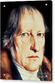 Portrait Of Georg Wilhelm Friedrich Hegel Acrylic Print by Jacob Schlesinger