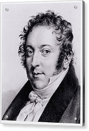 Portrait Of Gioacchino Rossini, Italian Acrylic Print by