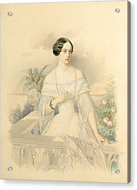 Portrait Of Grand Duchess Olga Nikolaevna Acrylic Print by Vladimir Ivanovich Hau