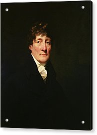 Portrait Of Henry Mackenzie 1745-1831 C.1810 Oil On Canvas Acrylic Print by Sir Henry Raeburn