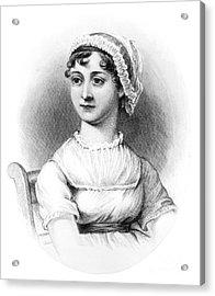 Portrait Of Jane Austen Acrylic Print by English School