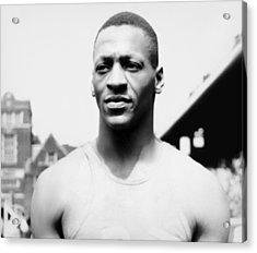 Portrait Of Jesse Owens Acrylic Print by Underwood Archives