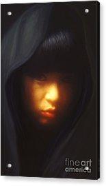 Portrait Of Li Acrylic Print by Jeff Breiman