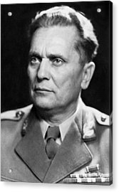 Portrait Of Marshal Tito Acrylic Print by Underwood Archives