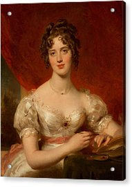 Portrait Of Mary Anne Bloxam Acrylic Print by Thomas Lawrence