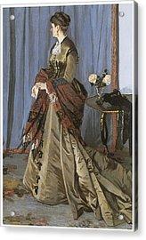 Portrait Of Mrs. Gaudibert Acrylic Print by Claude Monet