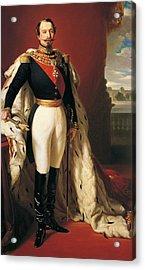 Portrait Of Napoleon IIi Louis Napoleon Bonaparte Acrylic Print by Franz Xaver Winterhalter