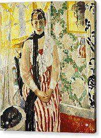 Portrait Of Nel Wouters Acrylic Print by Rik Wouters