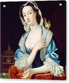 Portrait Of Peg Woffington Acrylic Print by Jean-Baptiste van Loo