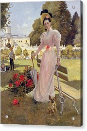 Portrait Of Princess Z.n Yusupova With Her Two Sons At Arkhangelskoe Acrylic Print by Francois Flameng