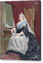 Portrait Of Queen Victoria Acrylic Print by English School