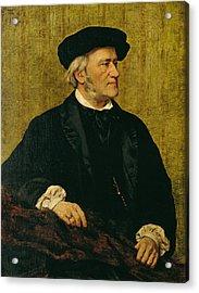 Portrait Of Richard Wagner Acrylic Print by Giuseppe Tivoli