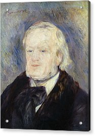 Portrait Of Richard Wagner Acrylic Print by Pierre Auguste Renoir