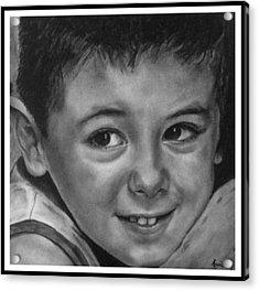 Portrait Of Samuel Acrylic Print by Arual Jay