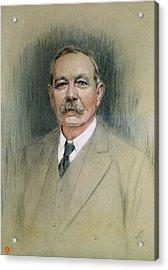 Portrait Of Sir Arthur Conan Doyle  Acrylic Print by William Henry Gates