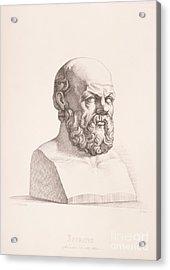Portrait Of Socrates Acrylic Print by CC Perkins