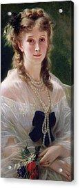 Portrait Of Sophie Troubetskoy  Acrylic Print by Franz Xaver Winterhalter