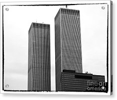 Portrait Of The Towers 1990s Acrylic Print by John Rizzuto