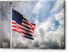 Portrait Of The United States Of America Flag Acrylic Print by Bob Orsillo