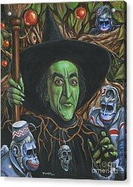 Portrait Of Wickedness Acrylic Print by Mark Tavares