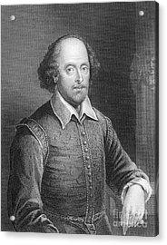 Portrait Of William Shakespeare Acrylic Print by English School