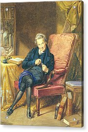 Portrait Of William Wilberforce 1759-1833 1833 Wc On Paper Acrylic Print by George Richmond