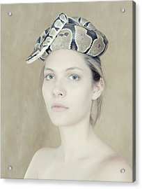 Portrait With The Snake Acrylic Print by Zina Zinchik