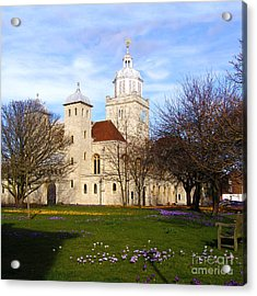 Portsmouth Cathedral At Springtime Acrylic Print by Terri Waters