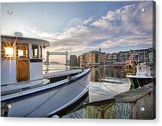 Portsmouth Harbor Sunrise Acrylic Print by Eric Gendron