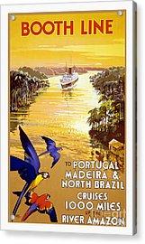 Portugal Vintage Travel Poster Acrylic Print by Jon Neidert