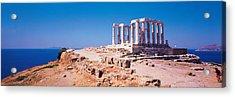 Poseidon Cape Sounion Greece Acrylic Print by Panoramic Images