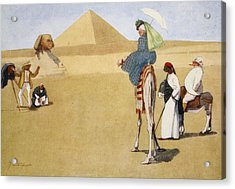 Posing At The Pyramids, From The Light Acrylic Print by Lance Thackeray