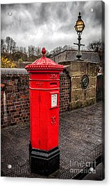Post Box Acrylic Print by Adrian Evans