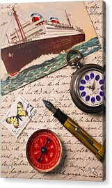 Post Card And Letter Acrylic Print by Garry Gay