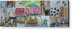 Postcards From New York City Acrylic Print by Jack Diamond