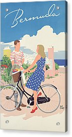 Poster Advertising Bermuda Acrylic Print by Adolph Treidler