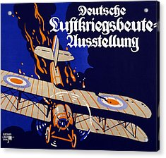 Poster Advertising The German Air War Acrylic Print by Siegmund von Suchodolski