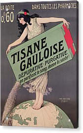 Poster Advertising Tisane Gauloise Acrylic Print by Paul Berthon