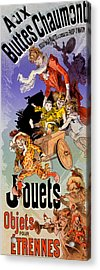 Poster For Aux Buttes Chaumont Toy Acrylic Print by Jules Cheret