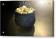 Pot Of Gold Acrylic Print by Allan Swart
