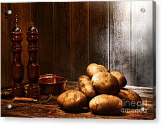 Potatoes Acrylic Print by Olivier Le Queinec