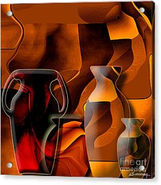 Pottery And Vase 1 Acrylic Print by Christian Simonian
