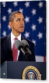 Obama Acrylic Print by Joshua Berman