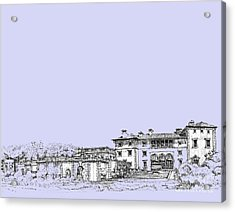 Powder Blue Vizcaya Museum  Acrylic Print by Building  Art