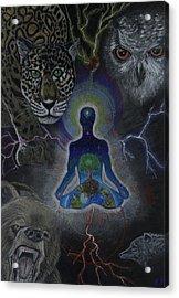 Power Animals Acrylic Print by Ethan  Foxx
