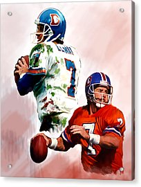 Power Force John Elway Acrylic Print by Iconic Images Art Gallery David Pucciarelli