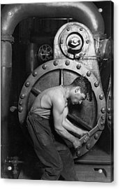 Power House Mechanic 1920 Acrylic Print by Mountain Dreams